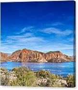 Canyon Lake Panorama Canvas Print