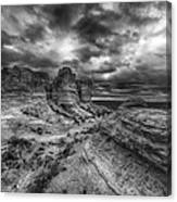 Canyon Light And Clouds Canvas Print
