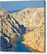 Canyon Of Zrmanja River In Croatia Canvas Print