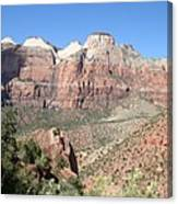 Canyon Overview Zion Park Canvas Print