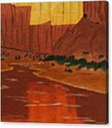 Canyon Reflection Canvas Print