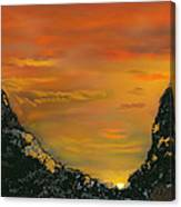 Canyon Sunrise Update Canvas Print