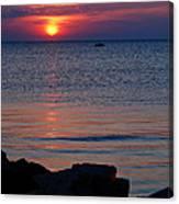 Cape Charles Rocky Sunset  Canvas Print