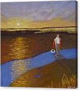 Cape Cod Clamming Canvas Print