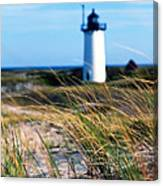 Cape Cod Lighthouse In Prowincetown  At  Summer Time Canvas Print