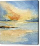 Cape Cod Sunset Seascape Painting Canvas Print