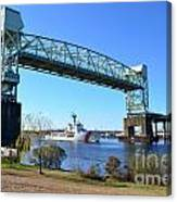 Cape Fear Draw Bridge  Canvas Print