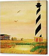 Cape Hatteras Light At Sunset Canvas Print