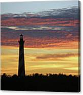 Cape Hatteras Lighthouse At Sunset Canvas Print