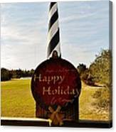 Cape Hatteras Lighthouse Happy Holiday 1 12/7 Canvas Print