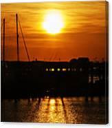 Cape May Harbor At Sunrise Canvas Print