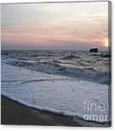Cape May Sunset Beach Nj Canvas Print