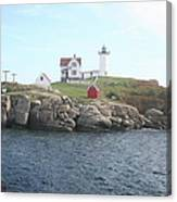 Cape Neddick Light On A Misty Morning Canvas Print