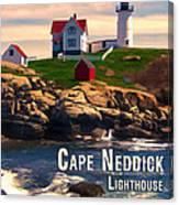 Cape Neddick Lighthouse  At Sunset  Canvas Print