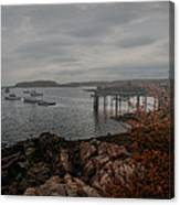Cape Porpoise Maine - Fog Rolls In Canvas Print