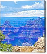 Cape Royal Blue On North Rim Of Grand Canyon-arizona Canvas Print