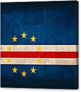 Cape Verde Flag Vintage Distressed Finish Canvas Print
