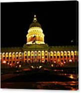 Capital Building In Utah Salt Lake City Canvas Print