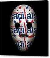 Capitals Goalie Mask Canvas Print