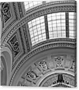 Capitol Architecture - Bw Canvas Print