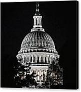 Capitol At Night Canvas Print