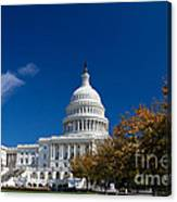 Capitol Building Autumn Foliage  Canvas Print