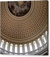 Capitol Cupola Washington Dc Canvas Print