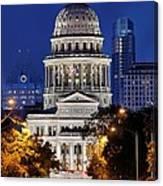 Capitol Of Texas Canvas Print