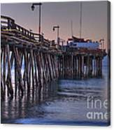 Capitola Wharf At Dusk Canvas Print