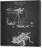 Capps Machine Gun Patent Drawing From 1899 - Dark Canvas Print