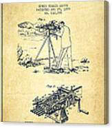 Capps Machine Gun Patent Drawing From 1899 - Vintage Canvas Print