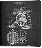 Capps Machine Gun Patent Drawing From 1902 - Dark Canvas Print