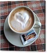 Cappuccino Love Canvas Print