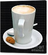Cappuccino With An Amaretti Biscuit Canvas Print