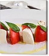 Caprese Mozzarella And Tomatoes Canvas Print