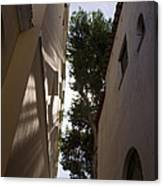 Capri - The Mediterranean Sun Painting Playful Shadows On Facades Canvas Print