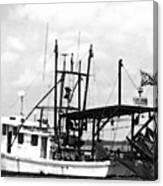 Capt. Jamie - Shrimp Boat - Bw 02 Canvas Print