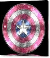 Captain America Shield Digital Painting Canvas Print