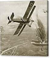 Captain Hawkers Aerial Battle Canvas Print