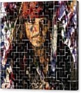 Captain Jack Sparrow Digital Painting Canvas Print