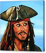 Captain Jack Sparrow Painting Canvas Print