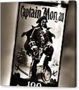 Captain Morgan Black And White Canvas Print
