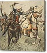 Capture Of Samory By Lieutenant Canvas Print