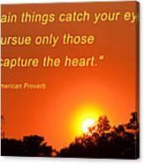 Capture The Heart Canvas Print