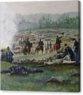 Capturing The Flag-picketts Charge Canvas Print