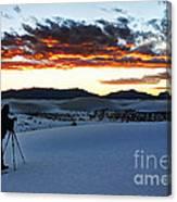 Capturing The Sunset Canvas Print