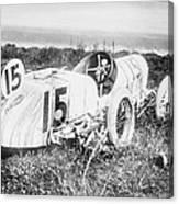 Car Accident, Bob Burmans Car Canvas Print