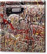 Car Door Splattered Paint.tif Canvas Print