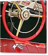 Car Interior Red Seats And Steering Wheel Canvas Print