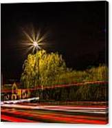 Car Light Trails Canvas Print
